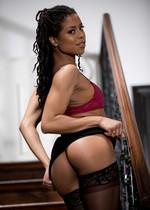 Sexy black girl strips