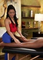 Ebony lesbian massage
