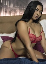 Latina babe in her underwear