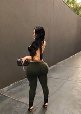 A girl with a big butt