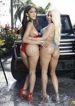 Latino car wash babes