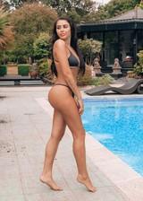 Butt in a string bikini