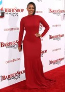 Melanie Brown is curvy in red