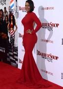 Melanie Brown is curvy in red