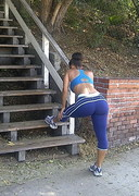 Melyssa Ford in tights