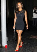 Melyssa Ford in a tight dress