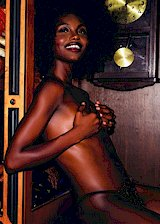 Nude ebony Playmate
