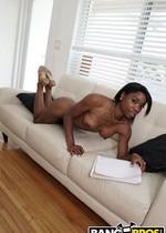 Sexy ebony tutor