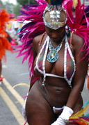 Thick woman in a parade