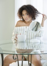 Cute black girl strips