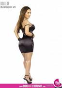 Latina in black lingerie