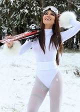 Brazilian babe in the snow