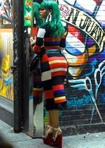 Rihanna in a tight dress