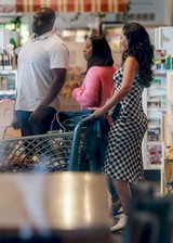 Rihanna at a grocery store