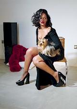 Rihanna in a magazine