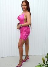 Rihanna in a sexy dress