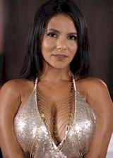 Curvy latina in a tight dress