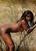 Blck babe naked on the savannah