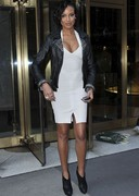 Selita Ebanks in a form fitting dress