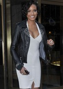 Selita Ebanks in a form fitting dress