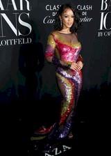 Serayah McNeill in a sexy dress