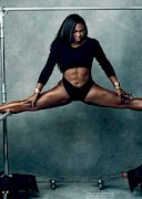 Serena Williams doing a split
