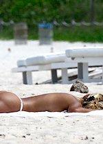 Hot babe in a bikini