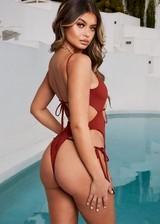 Curvy babe in a bikini