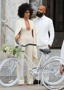 Solange wedding cleavage