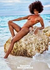 Tanaye White in a bikini