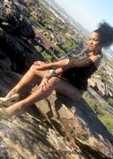 Tiara naked in the desert
