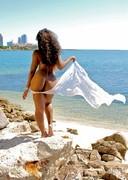 Tiara nude by the ocean