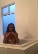Vida Guerra nude in bath