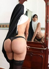 Ex nun doing porn