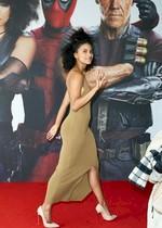 Zazie Beetz in a sexy dress