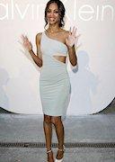 Zoe Saldana in a tight dress