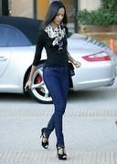 Zoe Saldana tight jeans candids