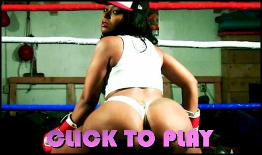 Video of a big booty boxing babe