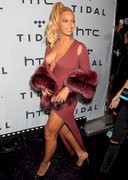 Beyonce Showing Plenty of Cleavage at a TIDAL Event!